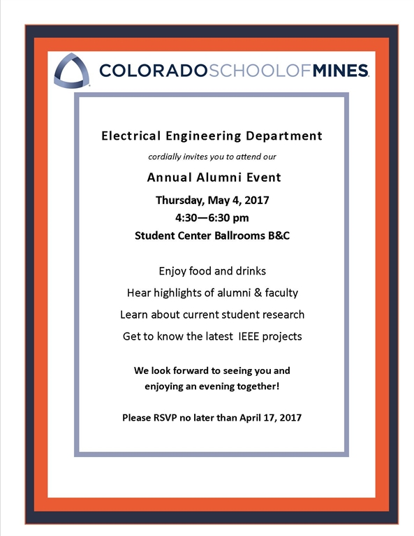 Mines 2017 Electrical Engineering Alumni Event