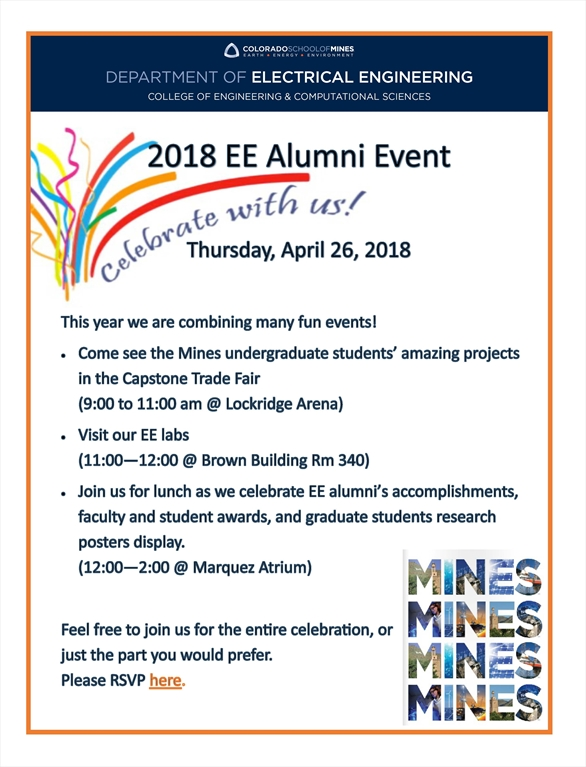 Mines 2018 Electrical Engineering Alumni Event